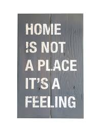 home dining tagged sale home is not a place it s a feeling wood plank sign wall art