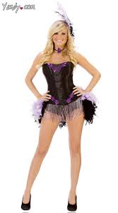 Burlesque Halloween Costumes Burlesque Show Costume Purple Showgirl Costume Feather