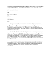 cover letter to accompany press release