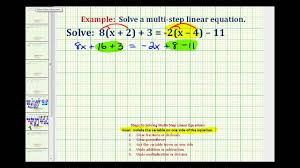 ex 2 solve an equation with variables and paheses on both sides