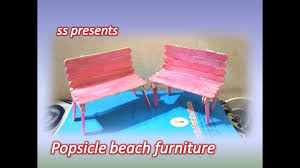 how to make popsicle beach furniture kids crafts ideas ice