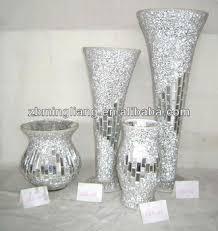 Cheap Glass Vase Silver Mosaic Glass Vases Buy Glass Vases Mosaic Mirror Vase