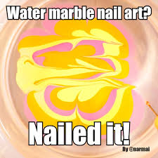 Nail Art Meme - piggieluv how not to do water marble nail art hpb new to you