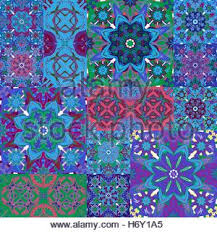vector blue islamic ornamental rosette circle design element