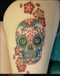 mexican sugar skull tattoo on wrist in 2017 real photo pictures