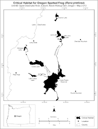 Map Of Oregon Counties by Federal Register Endangered And Threatened Wildlife And Plants