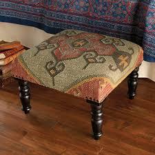ram u0027s horn kilim footstool national geographic store