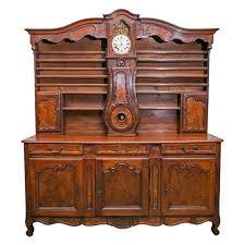design history french louis xv style french xv style buffet with clock antique rococo the highboy com
