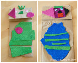 easy paper bag puppet craft for kidsthe outlaw mom blog