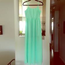 forever 21 f21 mint green maxi dress small nwt from trang u0027s