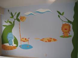 fresque murale chambre bébé fresque murale chambre fille simple ralise dans une peinture bébé