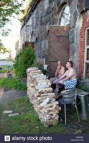 suomenlinna fortress helsinki finland sauna stock photo royalty