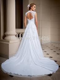 aliexpress com buy elegant cap sleeves white long wedding dress