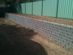 concrete block retaining wall design good decorative cinder