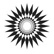 tribal sun rays design