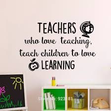 wall art design educational wall art teachers who love teaching educational wall art teachers who love teaching wall art black sticker decal home diy decoration wall mural removable for kids room class room