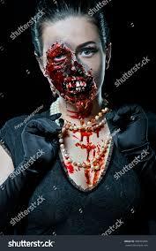 woman horror make studio on black stock photo 498455896 shutterstock