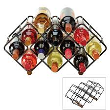 buy gourmet basics stackable 12 bottle wine rack online at mikasa com