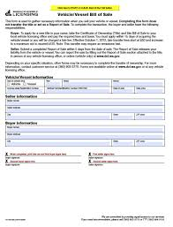 Bill Of Sale Of Vehicle by Free Washington Vehicle Vessel Bill Of Sale Form Pdf Word Doc