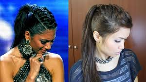 fantastic two braids in ponytail