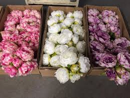 faux peonies is blooming in our store with faux flowers evantine