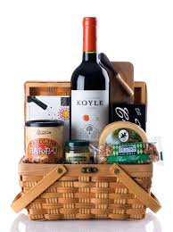 wine basket wine and cheese basket gift basket with cabernet sauvignon and
