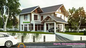 contemporary hillside house kerala home design and floor plans