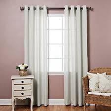 amazon com best home fashion faux linen curtains antique bronze
