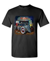 custom garage designs promotion shop for promotional custom garage funny cheap tee shirts rat rod garage muscle car hot low race mens cotton t shirt design cheap custom tees