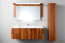 wooden washbasin cabinet contemporary with mirror aqua burg