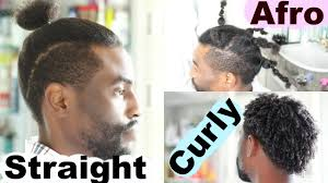 same haircut straight and curly from curly to afro to straight hair men hairstyles josiphia