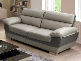 canap design pas chere craquez pour le design bicolore et le confort des canapés en cuir de