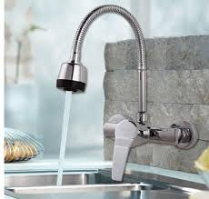 wall mounted kitchen sink faucets faucet spout wall mounted kitchen faucet mixer single