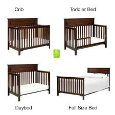 How To Convert Crib To Bed Davinci Autumn 4 In 1 Convertible Crib Espresso Babies R Us