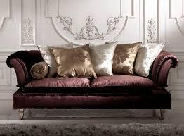 canapé style baroque canapé design nouveau baroque en tissu 3 places marron rokko