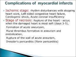 cerebral vascular diseases 31 complications of myocardial infarcts