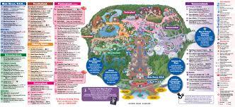 Epcot Center Map All Walt Disney World Resort Theme Park Maps Meet The Magic