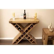 oslo rustic oak cross wine rack storage best price guarantee