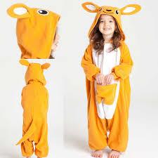Kangaroo Halloween Costumes Kids Orange Kangaroo Onesies Hoodie Pajamas Pajamasbuy
