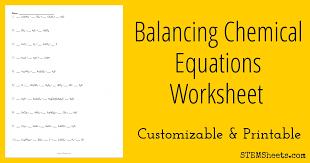 stage balancing chemical equations worksheet answer key printable