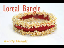 how to make designer pearl loreal silk thread bangle at home