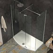 1500 Shower Door Kudos Ultimate 2 1500 X 700mm Curved Walk In Shower Enclosure