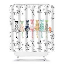 cat shower curtain shabby chic shower curtain by ozscapehomedecor