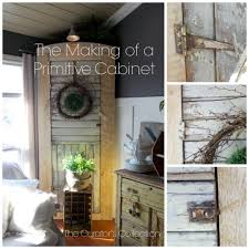 not just a door anymore diy primitive style corner cabinet the