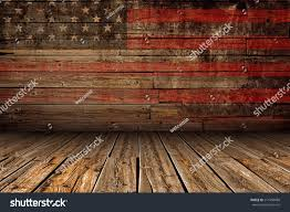 wooden american flag wall wooden american vintage stage background stage stock illustration