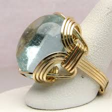 gold wire rings images 14 kt gold aqua wire wrapped ring by jandsgems jpg