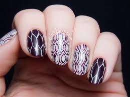 plum and honey with a pattern pictorial chalkboard nails nail