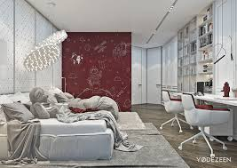 Kids Room Design For Two Kids Red And Grey Bedroom For Two Kids Interior Design Ideas