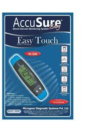 accusure accusure easy touch glucometer price in india buy