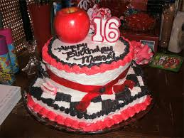 sweet 16 round birthday cake birthday cakes gallery